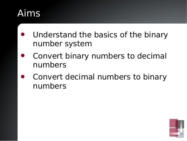 Introduction to number systems and binary (video)