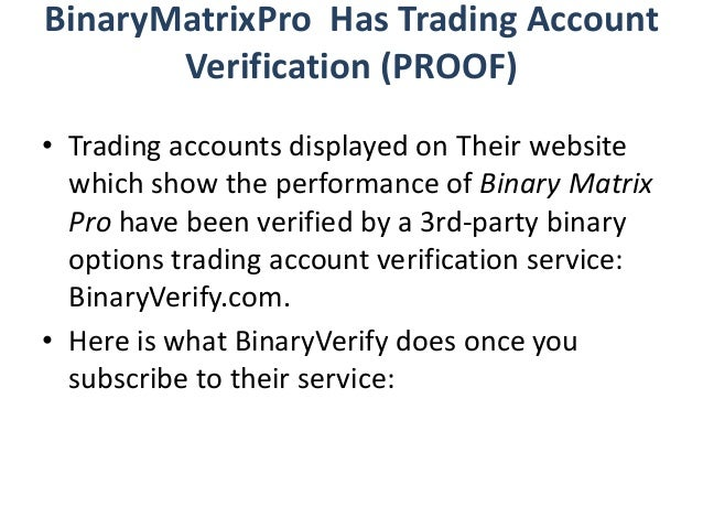binary options matrix review