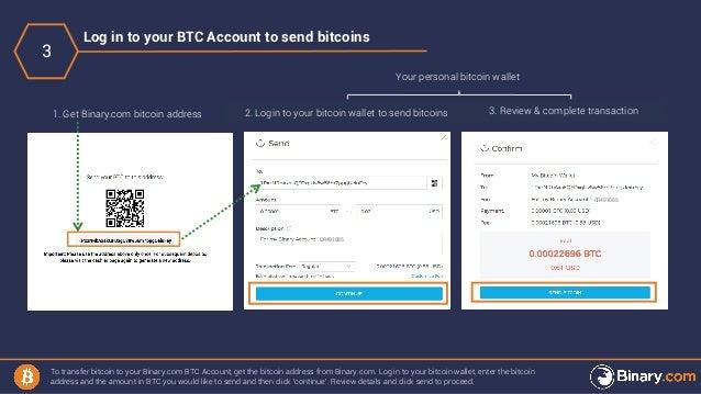 How to deposit & withdraw via Binary com Bitcoin Account