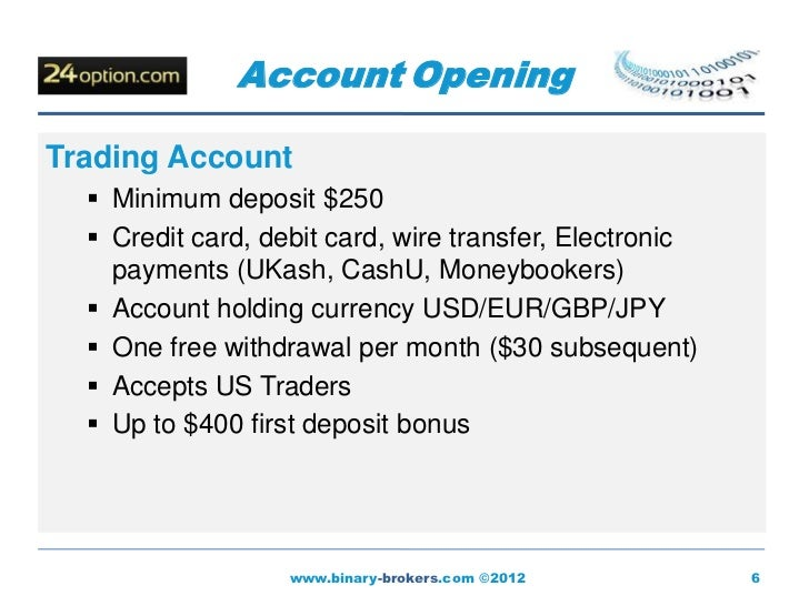 Cheapest binary options deposit