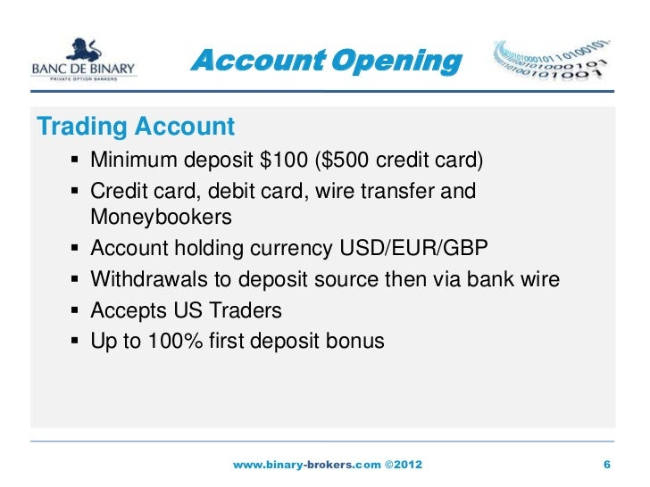 Binary option 50 deposit
