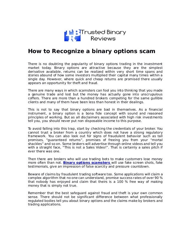 Binary options scam list