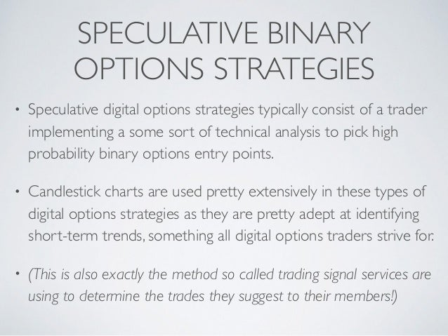 Digital options trading strategies