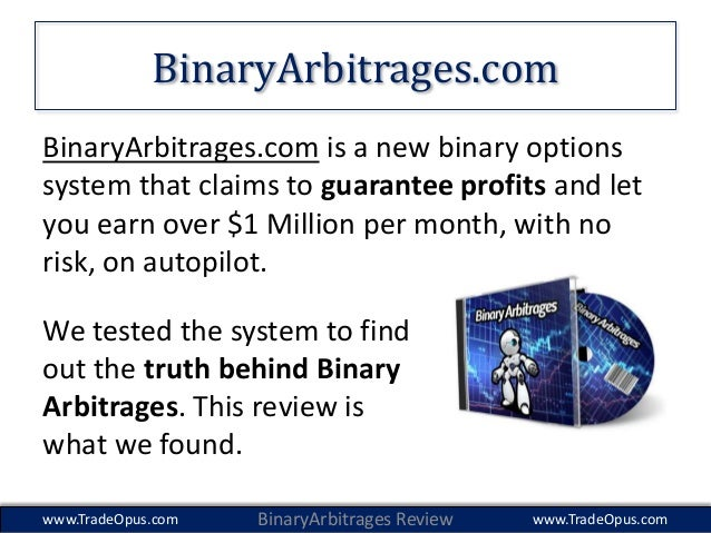 Guaranteed binary options profits