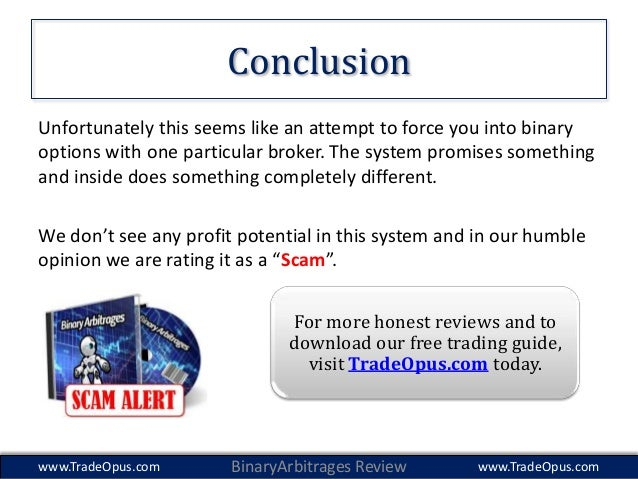 Binary options broker arbitrage