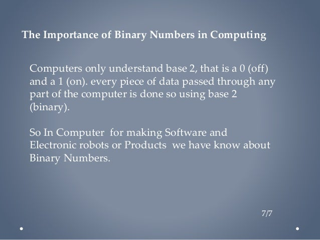 Binary Arithmetic Presentation About Binary Numbers 2015