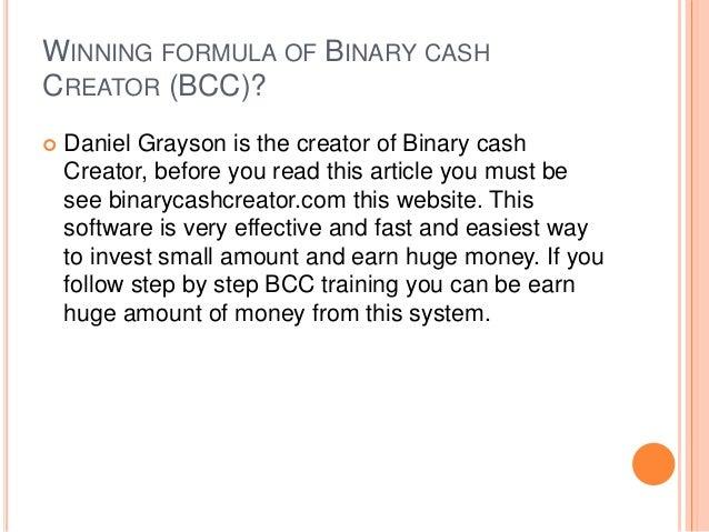 Binary options winning formula free