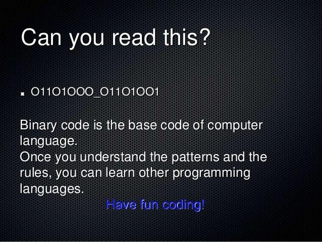 Binary code - Beginning