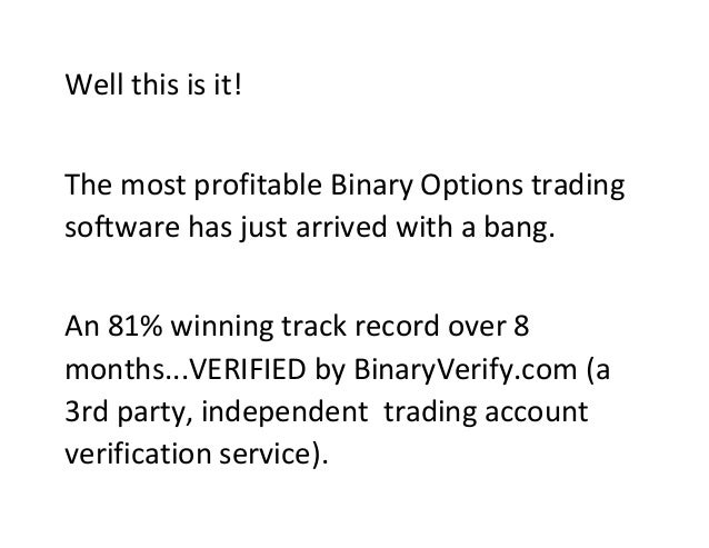 Most profitable binary options