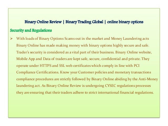 International binary options trade commission
