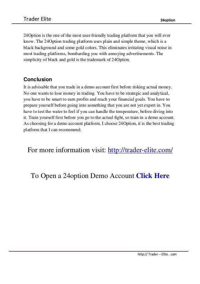 24 binary options demo account