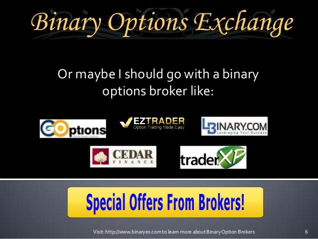 Introducing broker binary options
