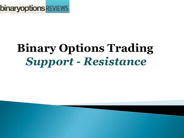 Trading binary options with support and resistance