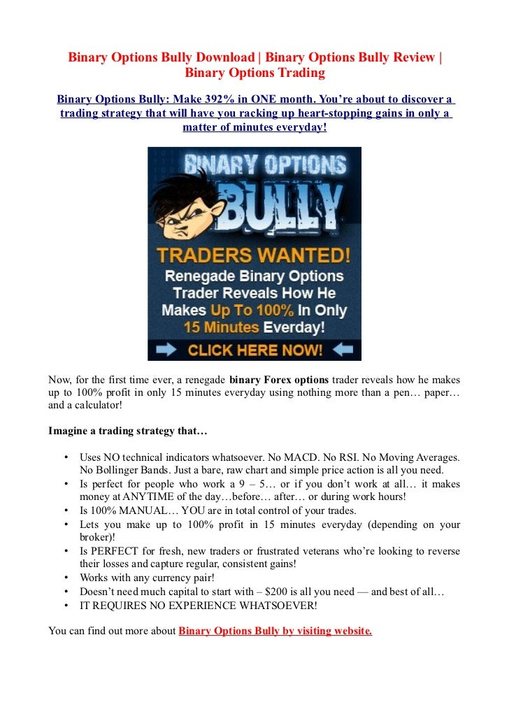 Binary options bully review