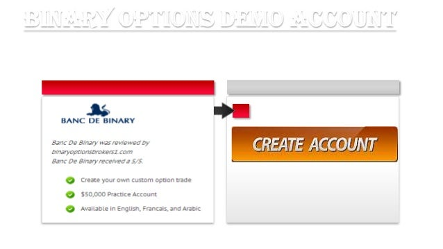 Binary options account
