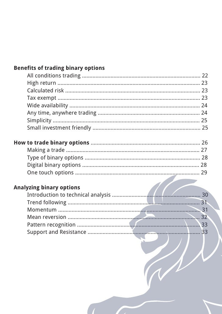 Binary optionsebook Slide 3