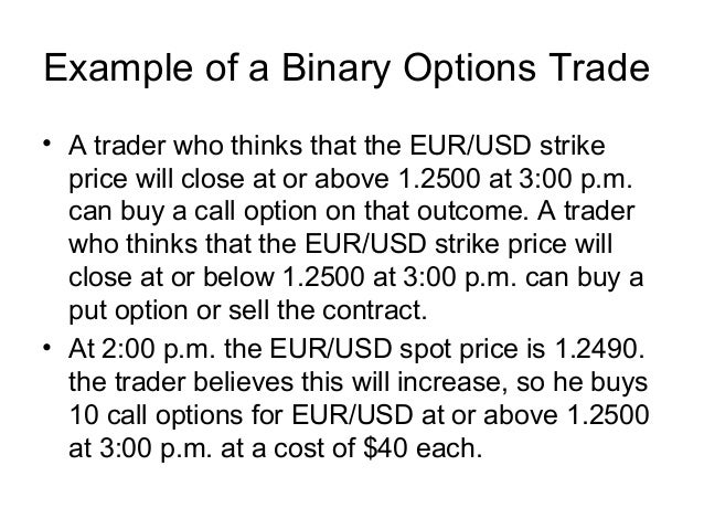 Bvz binary options