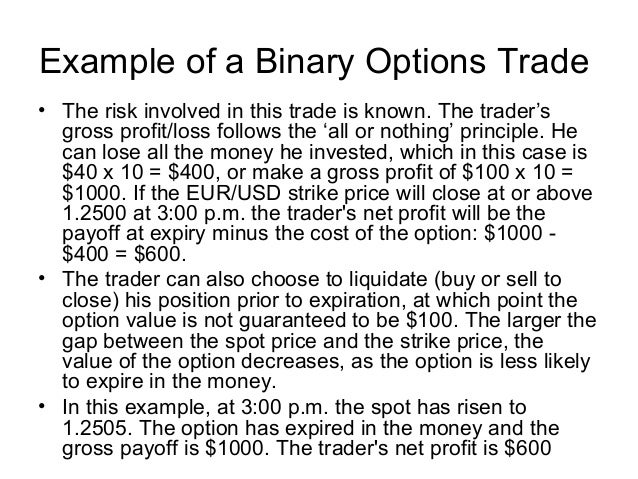 Binary options make money fast