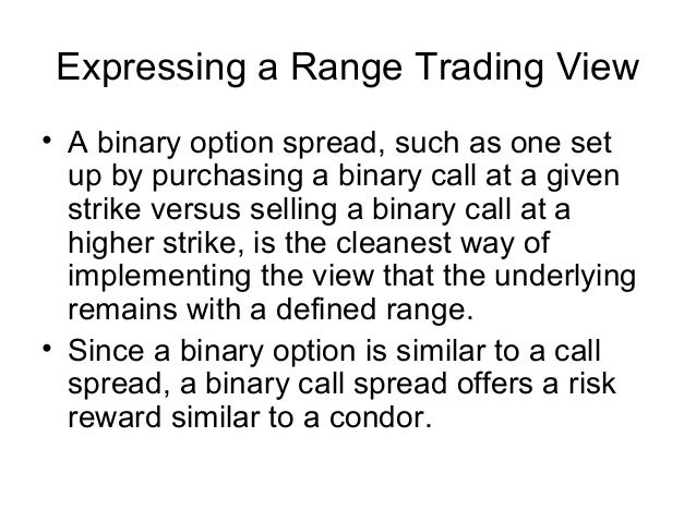 At the money binary options