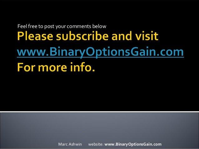 hedging using binary options