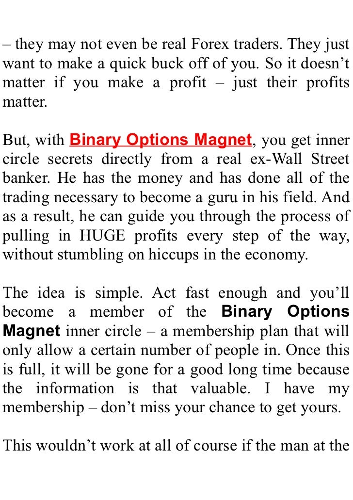 Does binary option trading really work