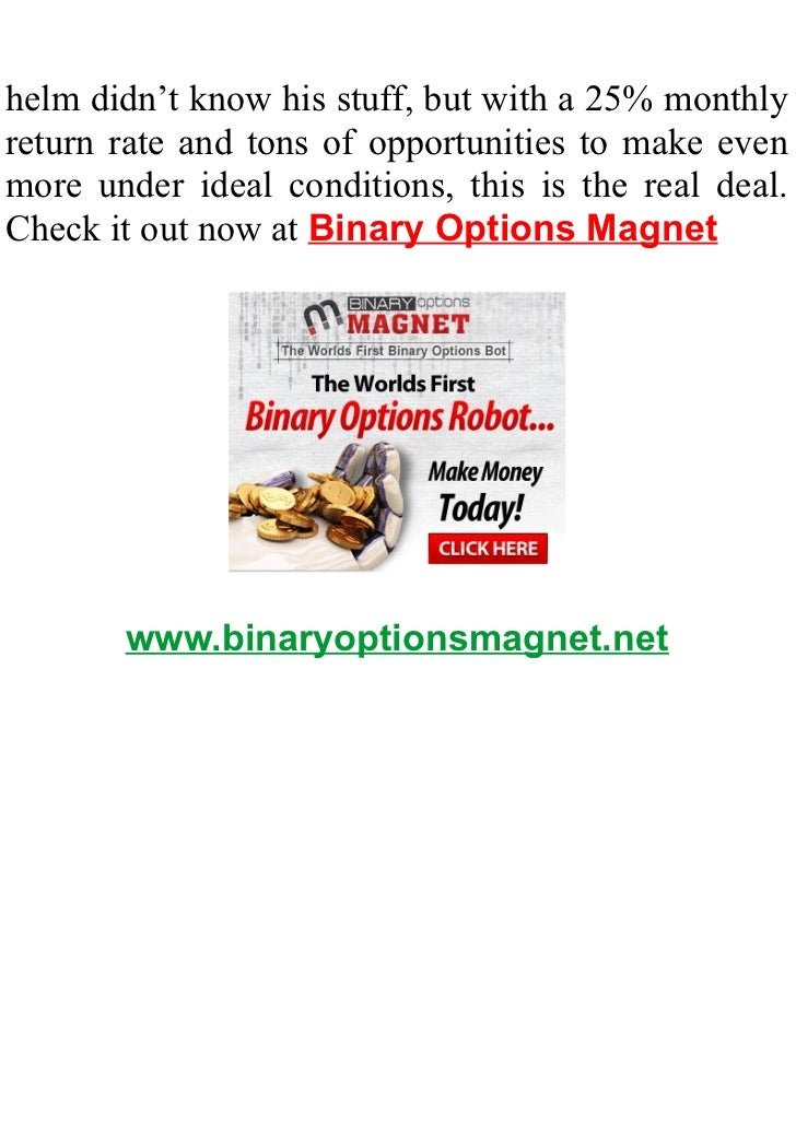 Binary option robot really work