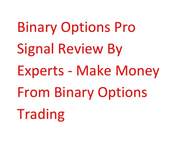 Binary options money making