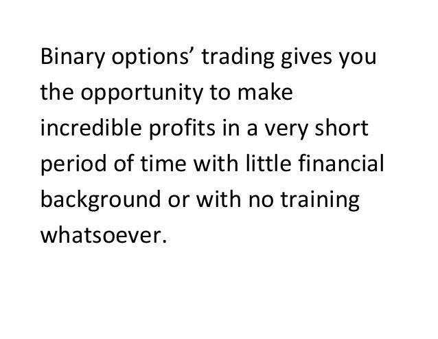 Binary options trading seminars