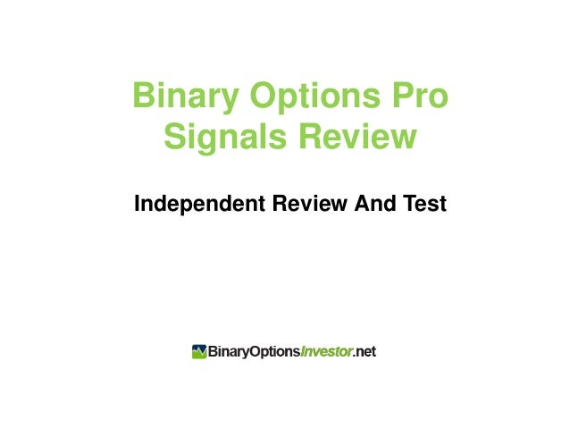Binary options signals rating