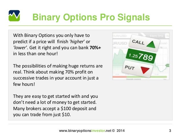 Binary options live stream