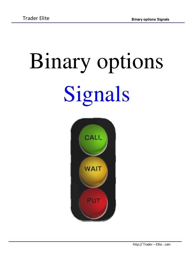 How binary options signals