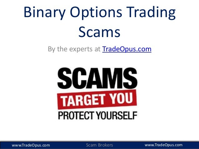 Binary option trading scams