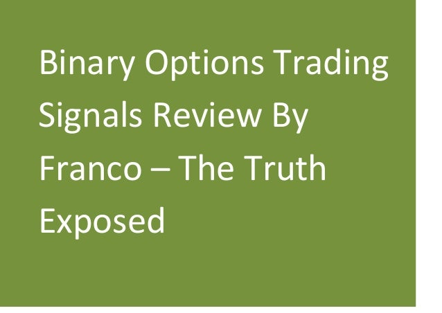 Franco binary options signals 2020