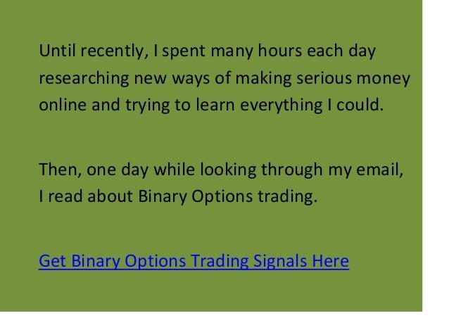 Hourly binary option signals trade