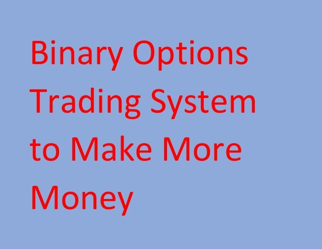 I made money with binary options