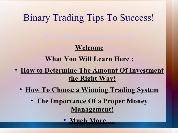 Best binary trading sites