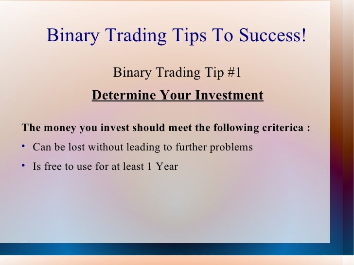 Trading binary options strategies and tactics video