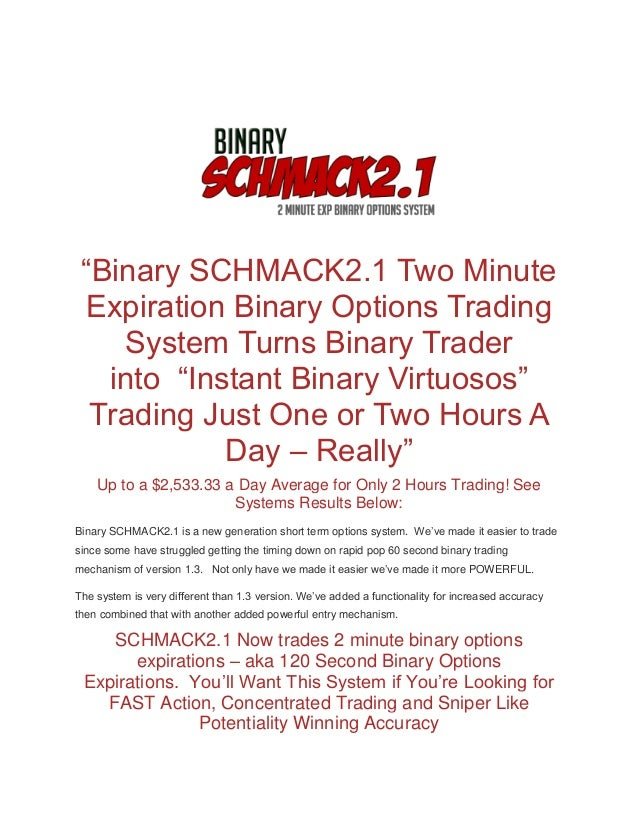 The niche trading system for binary options