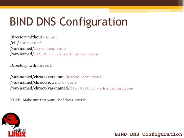 BIND DNS Configuration Red Hat 5