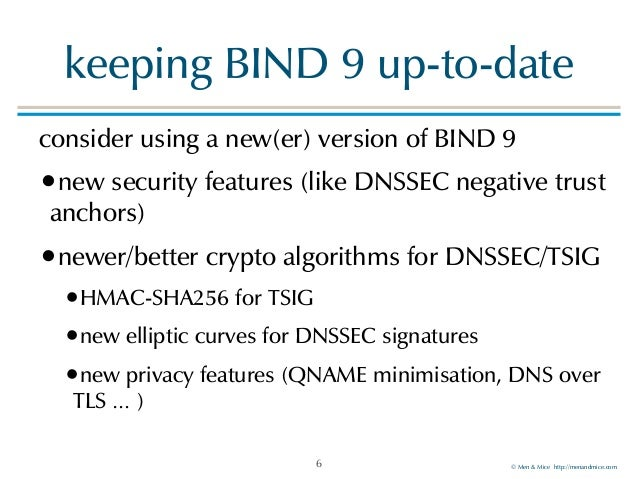 A secure BIND 9 – best practices