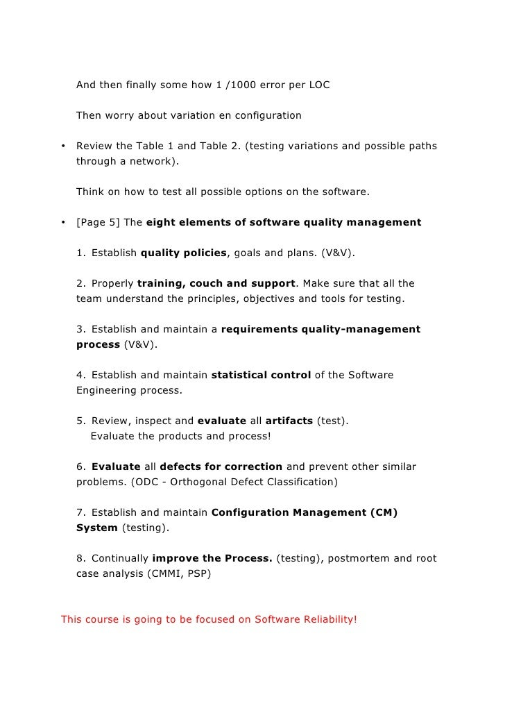 software testing notes Geethanjali college of engineering and technology software testing methodologies course file department of 8 brief notes on the importance of the course and.