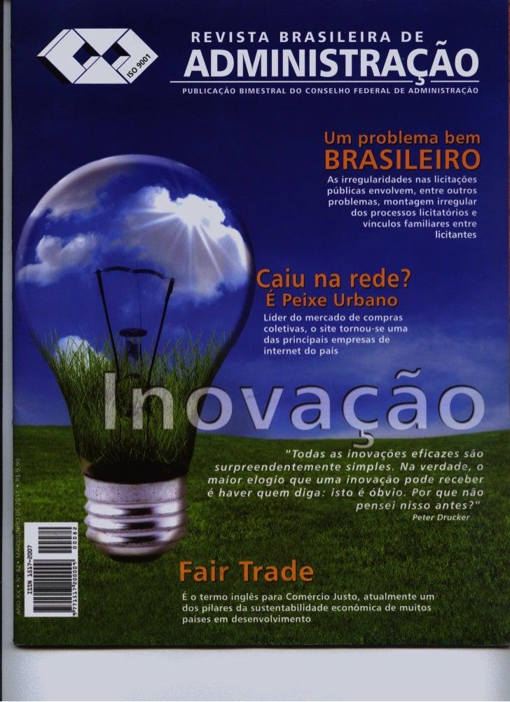 Entrevista de Bruno Silva à Revista Brasileira de Administração