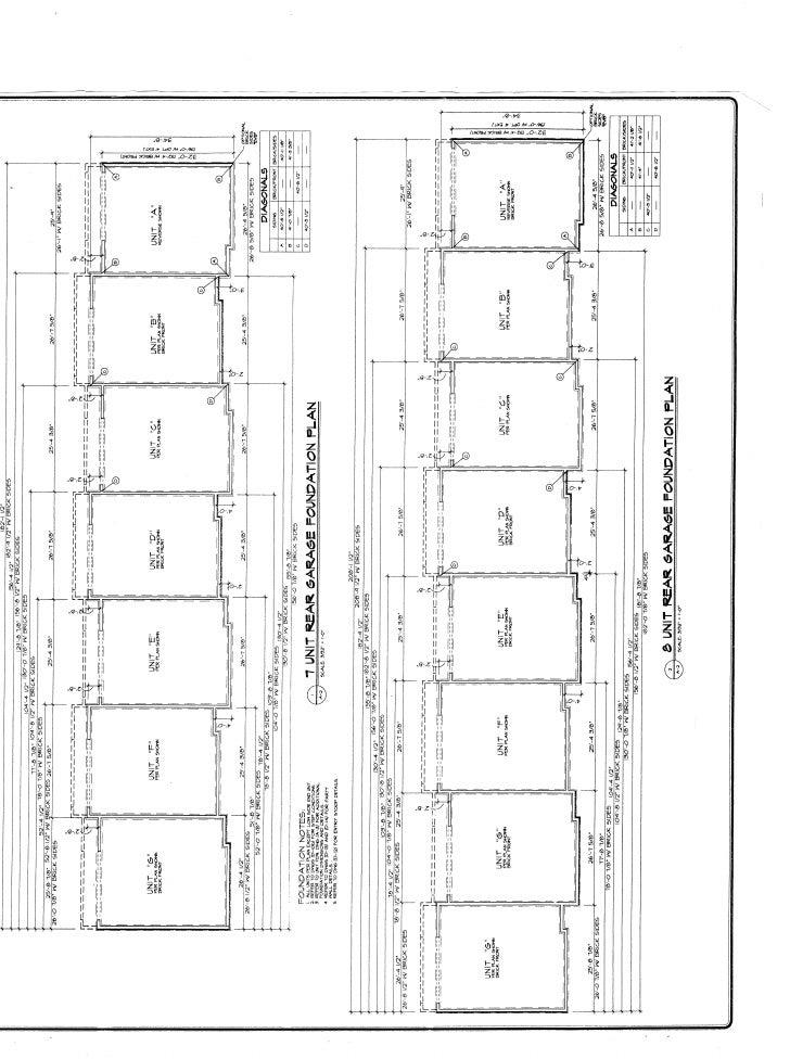 Full set of Townhouse plans Slide 2