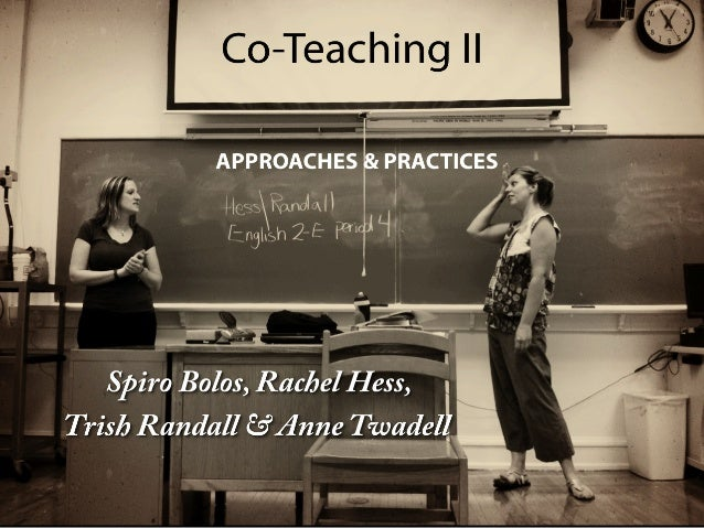 Co-Teaching Approaches and Practices: Day 2, NSSED