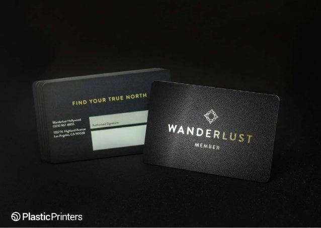 Wanderlust Black Membership Card With Metallic Foil Stamp