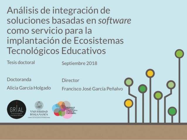 Análisis de integración de soluciones basadas en software como servicio para la implantación de Ecosistemas Tecnológicos E...