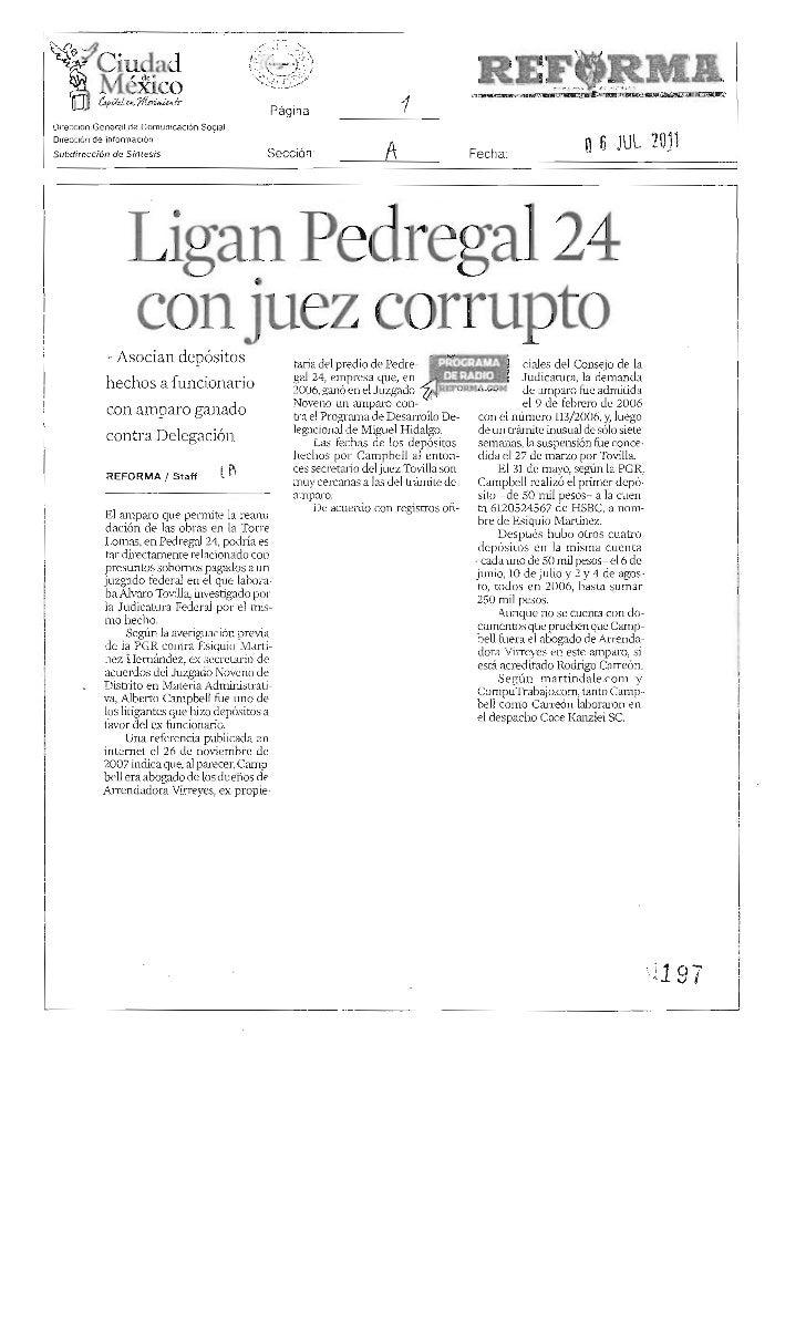 Ligan a Juez Corrupto con construcción en Pedregal 24