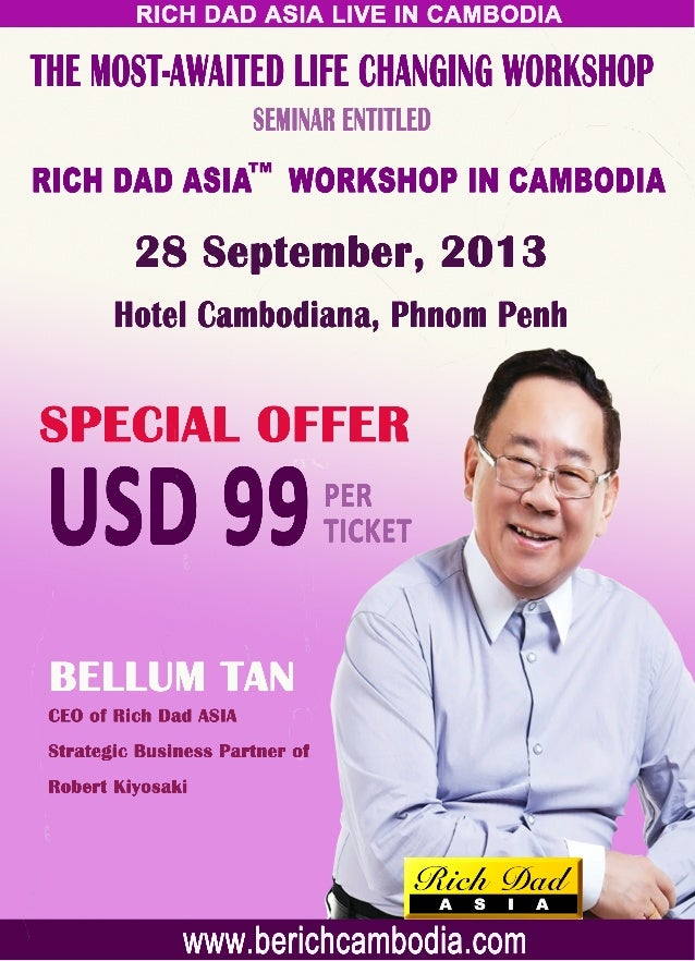 Rich Dad Asia™ Workshop in Cambodia on 28 September