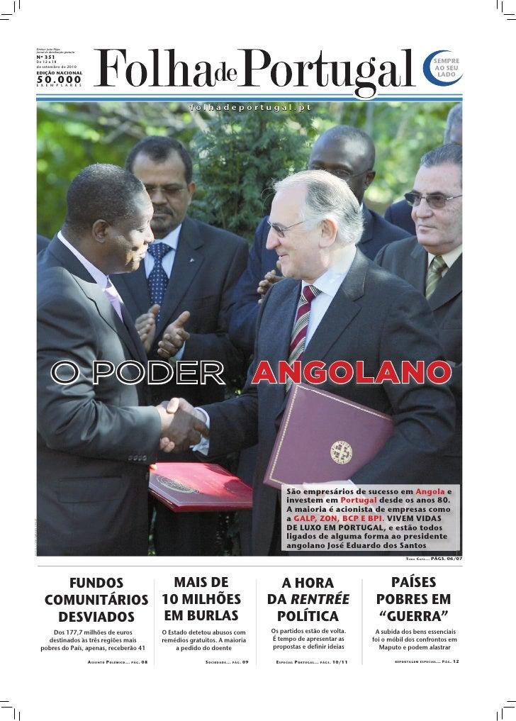 Diretor: João Filipe                  Jornal de distribuição gratuita                 Nº 351                 De 12 a 18   ...