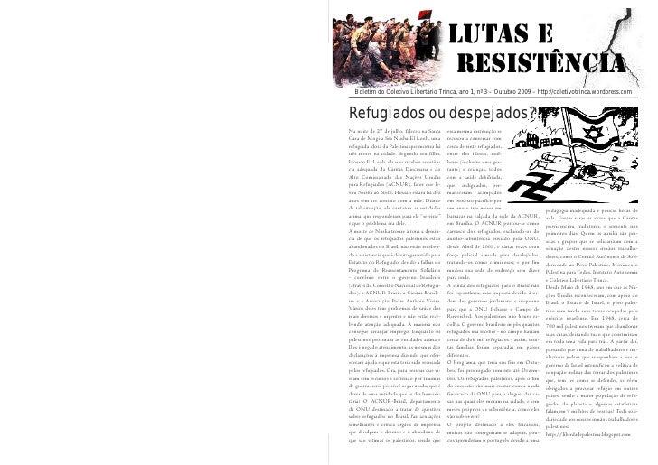 Boletim do de LutasLibertário Trinca, ano 1, nº 3 Libertário 2009 – http://coletivotrinca.wordpress.com     Boletim Coleti...
